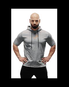 Bluza męska z krótkim rękawem Olimp - MEN HOODIE T-SHIRT STONE - Olimp Laboratories