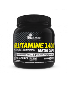 GLUTAMINE 1400 MEGA CAPS - 300 cápsulas - Olimp Laboratories