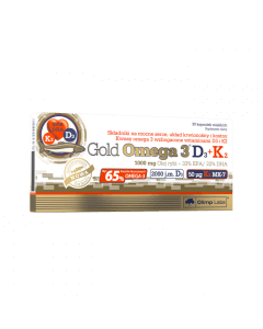 Gold Omega 3 D3 + K2 - 30 kapsułek - Olimp Laboratories