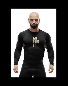 Męska koszulka treningowa z długim rękawem Olimp - MEN LONGSLEVE GOLD SERIES BLACK - Olimp Laboratories