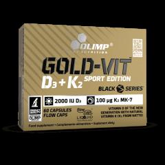 Gold-Vit D3+K2 SPORT EDITION - 60 gélules - Olimp Laboratories