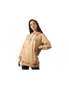 Bluza damska z kapturem QUEENS GANG - WOMENS HOODIE OVERSIZE WARM SAND - Olimp Laboratories