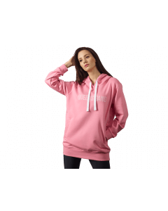 Bluza damska z kapturem QUEENS GANG - WOMENS HOODIE OVERSIZE DIRTY PINK - Olimp Laboratories
