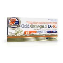 Gold Omega 3 D3 + K2 - 30 kapsułek - Olimp Laboratories