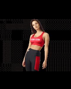 Stanik sportowy OLIMP - WOMEN'S SPORTS BRA RED - Olimp Laboratories