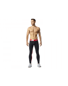 MEN'S LEGGINGS WORKOUT BLACK & RED - Olimp Laboratories