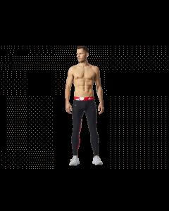 Męskie legginsy OLIMP – MEN'S LEGGINGS WORKOUT BLACK & RED - Olimp Laboratories