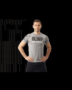 Męska koszulka OLIMP BORN IN THE GYM - MEN'S T-SHIRT BIG GREY - Olimp Laboratories