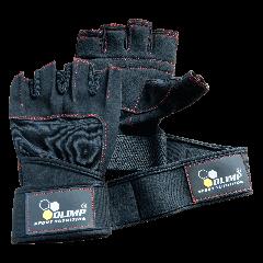 Gants d'entraînement - HARDCORE RAPTOR noir avec surpiqûres rouges - Olimp Laboratories