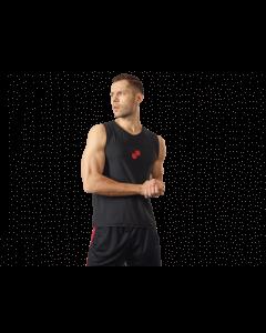 Męska koszulka treningowa bez rękawów OLIMP – MEN'S SLEEVLESS BLACK - Olimp Laboratories