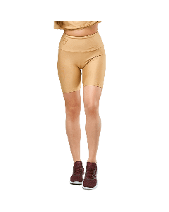 LEGGINGS COURTS QUEENS GANG - WOMEN'S SHORT LEGGINGS HIGH WAIST WARM SAND - Olimp Laboratories