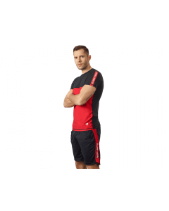 MENS T'SHIRT ACTIVE BLACK & RED - Olimp Laboratories