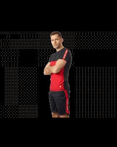 Męska koszulka treningowa OLIMP – MEN'S T-SHIRT ACTIVE BLACK & RED - Olimp Laboratories
