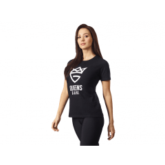 Damska koszulka OLIMP - WOMEN'S T-SHIRT PURE BLACK - Olimp Laboratories