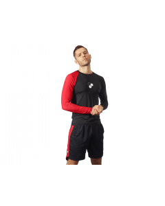 MEN'S LONGSLEEVE BLACK & RED - Olimp Laboratories