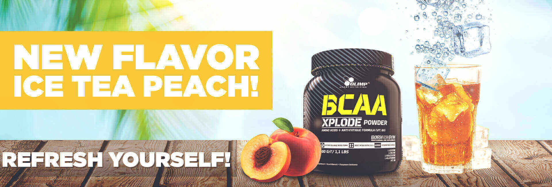 BCAA XPLODE ICE TEA PEACH