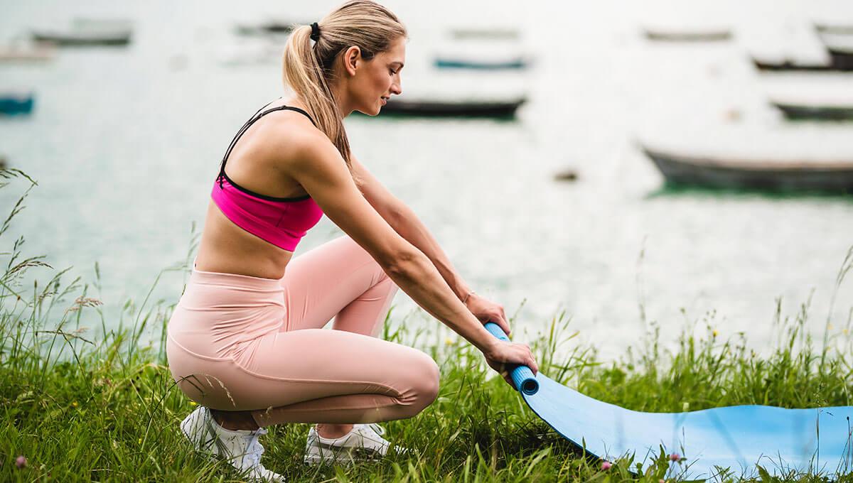 5 pomysłów na trening  nad jeziorem