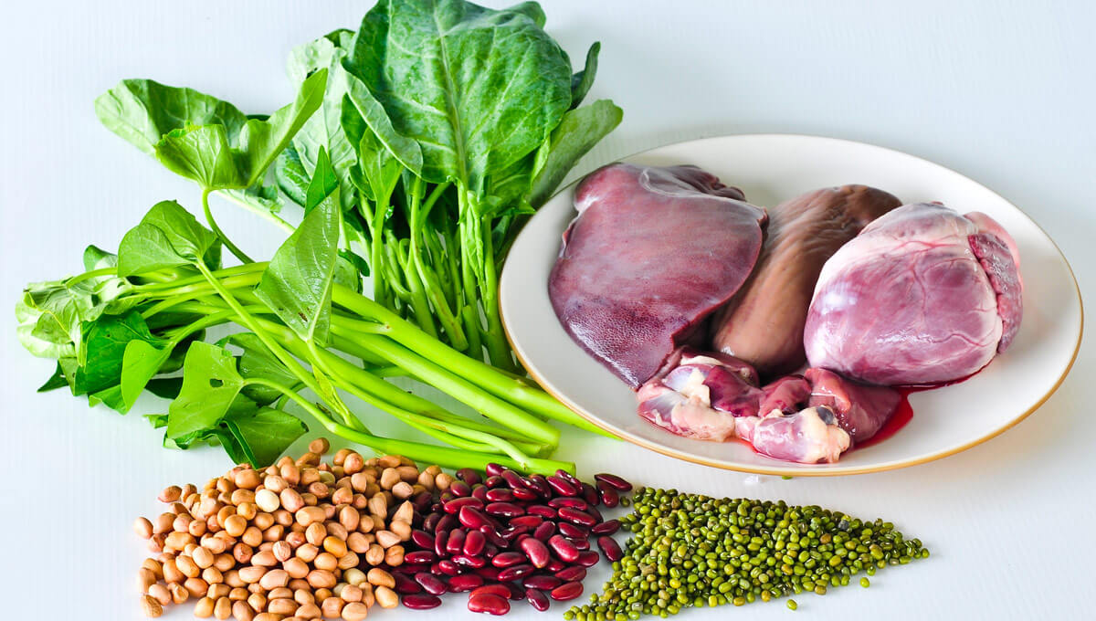 What should a diet  for anaemia contain?