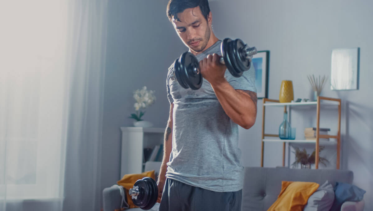 Heim-Fitnessstudio  - wie kann man Hanteln selbst herstellen?
