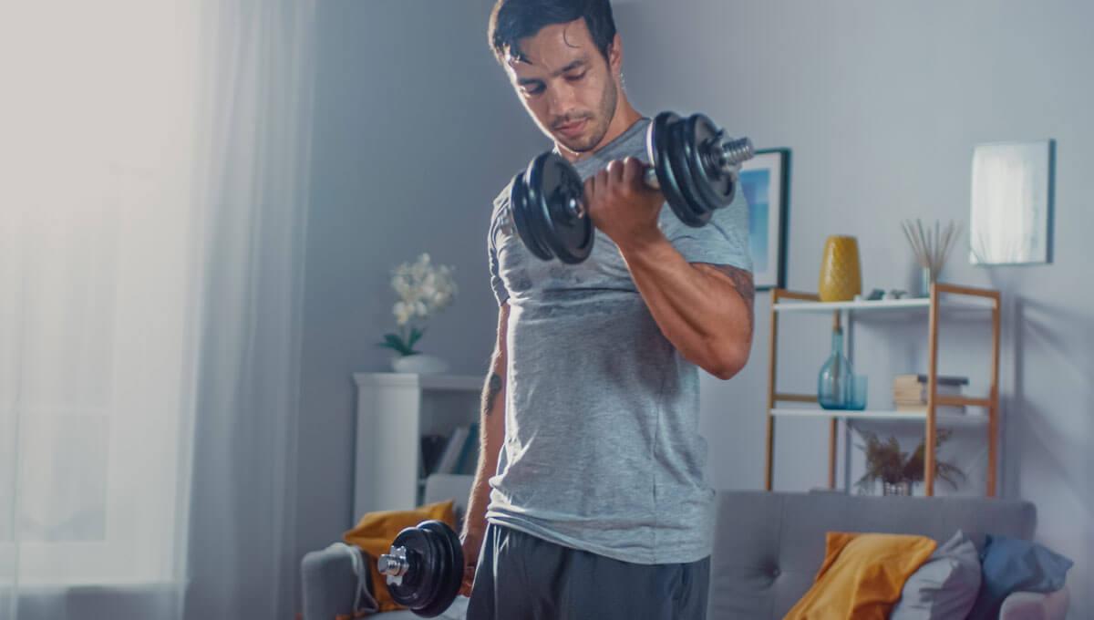 La gym à domicile  - comment faire des haltères soi-même ?