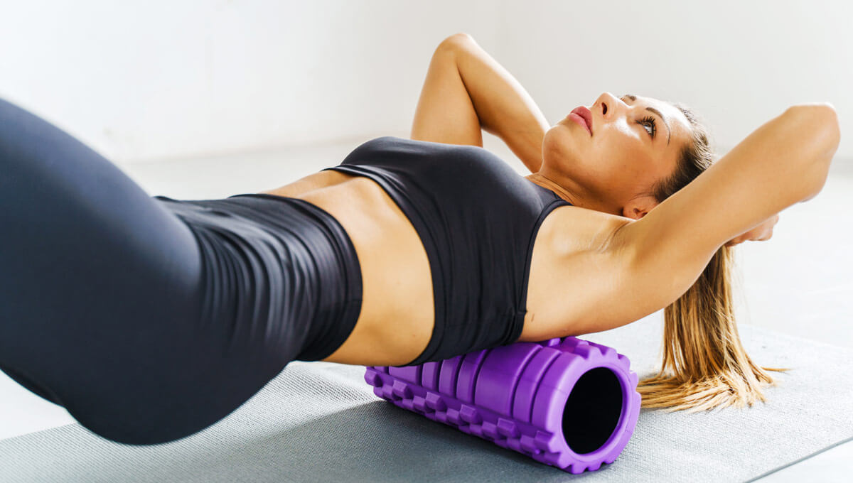 Home training with a foam roller.  Is it really effective?