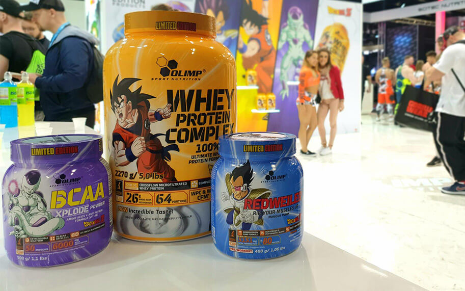 OLIMP SPORT NUTRITION  releasing limited edition products with the series Dragon Ball Z