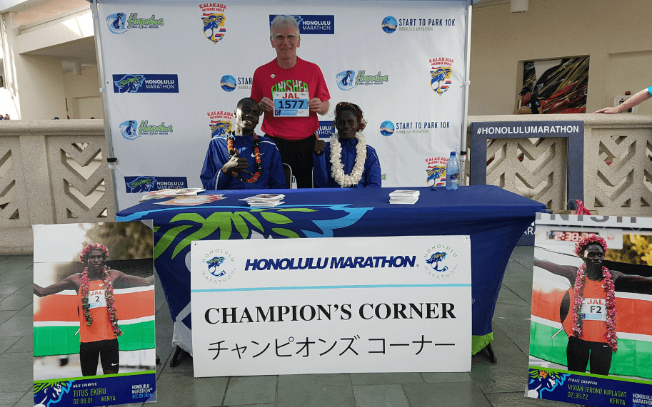 Prof. Jan Chmura z kolejnym maratonem na koncie.