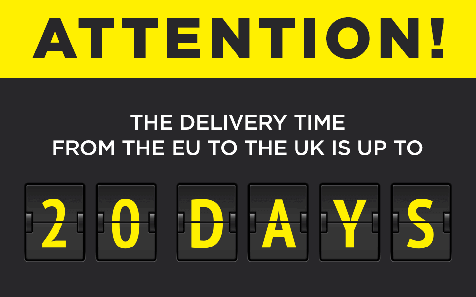 Brexit and delivery  time to UK