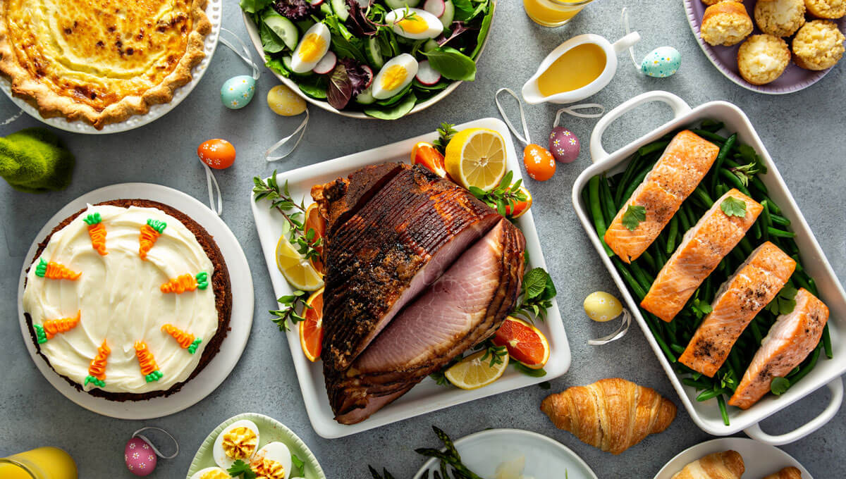 A healthy menu  for Easter