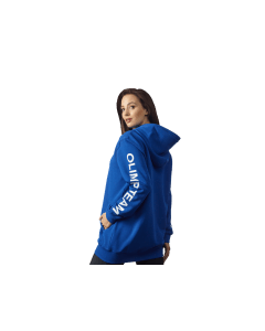 DAMSKA BLUZA Z KAPTUREM OLIMP - WOMEN'S HOODIE OVERSIZE BLUE - Olimp Laboratories