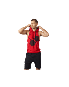 MĘSKA KOSZULKA TRENINGOWA Z KAPTUREM OLIMP – MEN'S HOODIE STRINGER CLASSIC RED - Olimp Laboratories