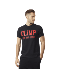 MĘSKA KOSZULKA TRENINGOWA OLIMP – MEN'S T-SHIRT LAF BLACK - Olimp Laboratories