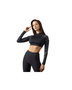 DAMSKI TOP TRENINGOWY Z DŁUGIMI RĘKAWAMI - LONG SLEEVE CROP TOP GUILTY BLACK - Olimp Laboratories