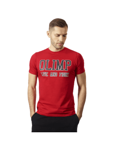 MĘSKA KOSZULKA OLIMP – MEN'S T-SHIRT LAF RED - Olimp Laboratories