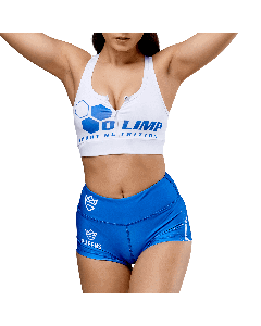 Women's Sports Bra OLIMP CREW WHITE & BLUE - Olimp Laboratories