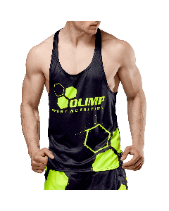KOSZULKA MĘSKA TANK TOP - MEN'S TANK TOP OLIMP CREW BLACK SERIES - Olimp Laboratories
