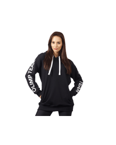 BLUZA DAMSKA Z KAPTUREM - WOMENS HOODIE OVERSIZE BLACK OLIMP TEAM - Olimp Laboratories