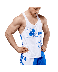 MEN'S TANK TOP OLIMP CREW WHITE SERIES - Olimp Laboratories