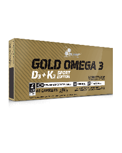 Gold Omega 3 D3 + K2 Sport Edition - 60 gélules - Olimp Laboratories