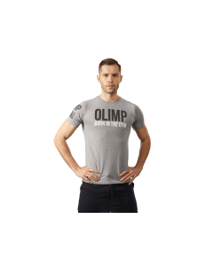 MĘSKA KOSZULKA OLIMP BORN IN THE GYM – MEN'S T-SHIRT BIG GREY - Olimp Laboratories