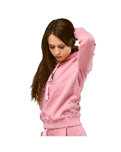 BLUZA DAMSKA Z KAPTUREM QUEENS GANG - WOMEN'S HOODIE DIRTY PINK - Olimp Laboratories