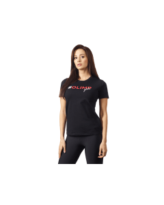 DAMSKA KOSZULKA TRENINGOWA - WOMEN'S T SHIRT OLIMP GIRLS BLACK - Olimp Laboratories