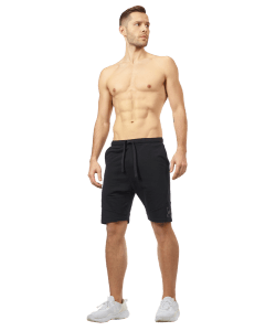 MĘSKIE KRÓTKIE SPODENKI OLIMP BORN IN THE GYM – MEN'S SHORT PANTS BLACK SERIES BLACK - Olimp Laboratories