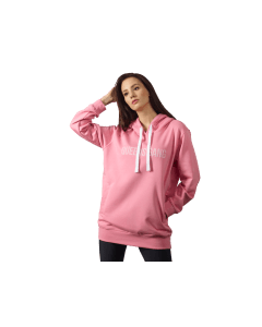 BLUZA DAMSKA Z KAPTUREM - WOMENS HOODIE OVERSIZE DIRTY PINK - Olimp Laboratories