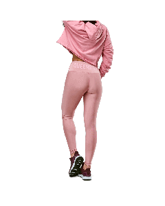 LEGGINSY DAMSKIE QUEENS GANG - HIGH WAIST DIRTY PINK - Olimp Laboratories