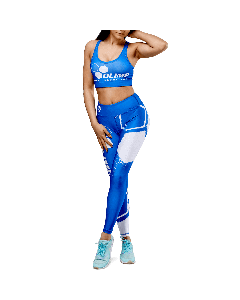 LEGGINSY DAMSKIE - OLIMP CREW BLUE - Olimp Laboratories
