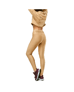 LEGGINSY DAMSKIE QUEENS GANG - HIGH WAIST WARM SAND - Olimp Laboratories