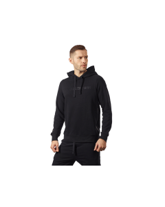 MĘSKA BLUZA z KAPTUREM OLIMP - MEN'S HOODIE BLACK SERIES BLACK - Olimp Laboratories