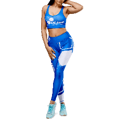 Women's leggings - OLIMP CREW blue  - Olimp Laboratories