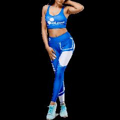 Women's leggings - OLIMP CREW blue  - Olimp Laboratories